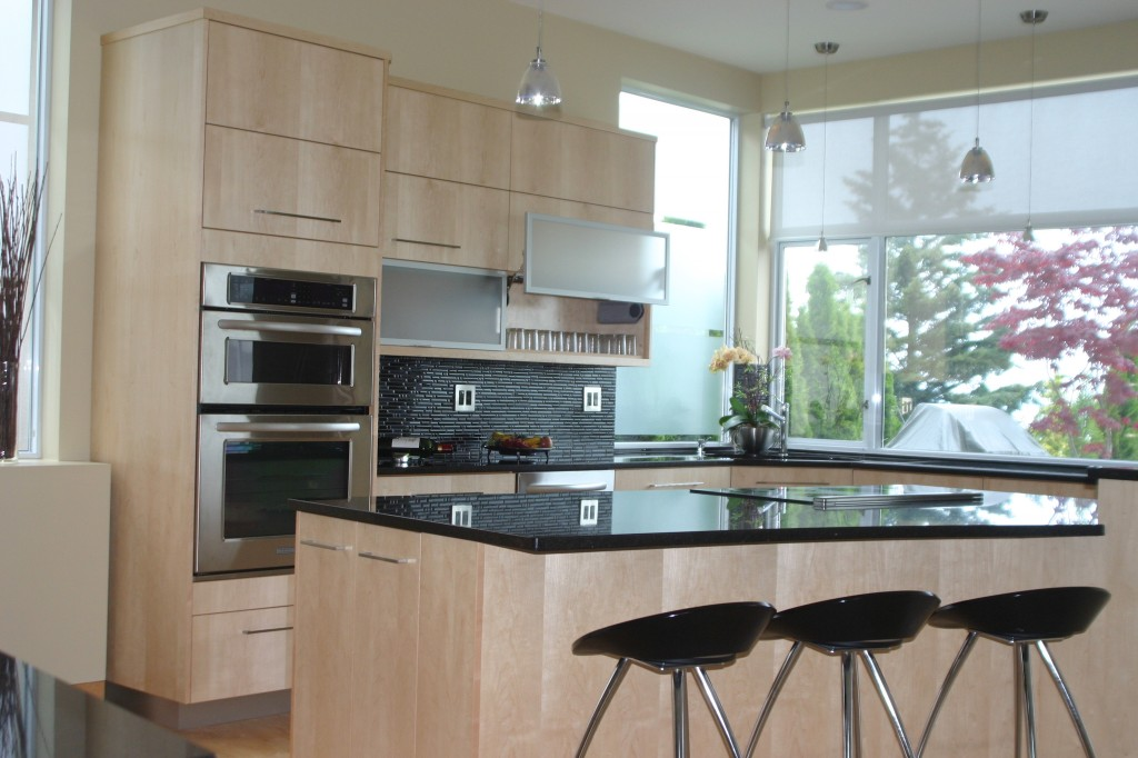 Eastern Maple Kitchen Upgrade Aventos Lift Doors