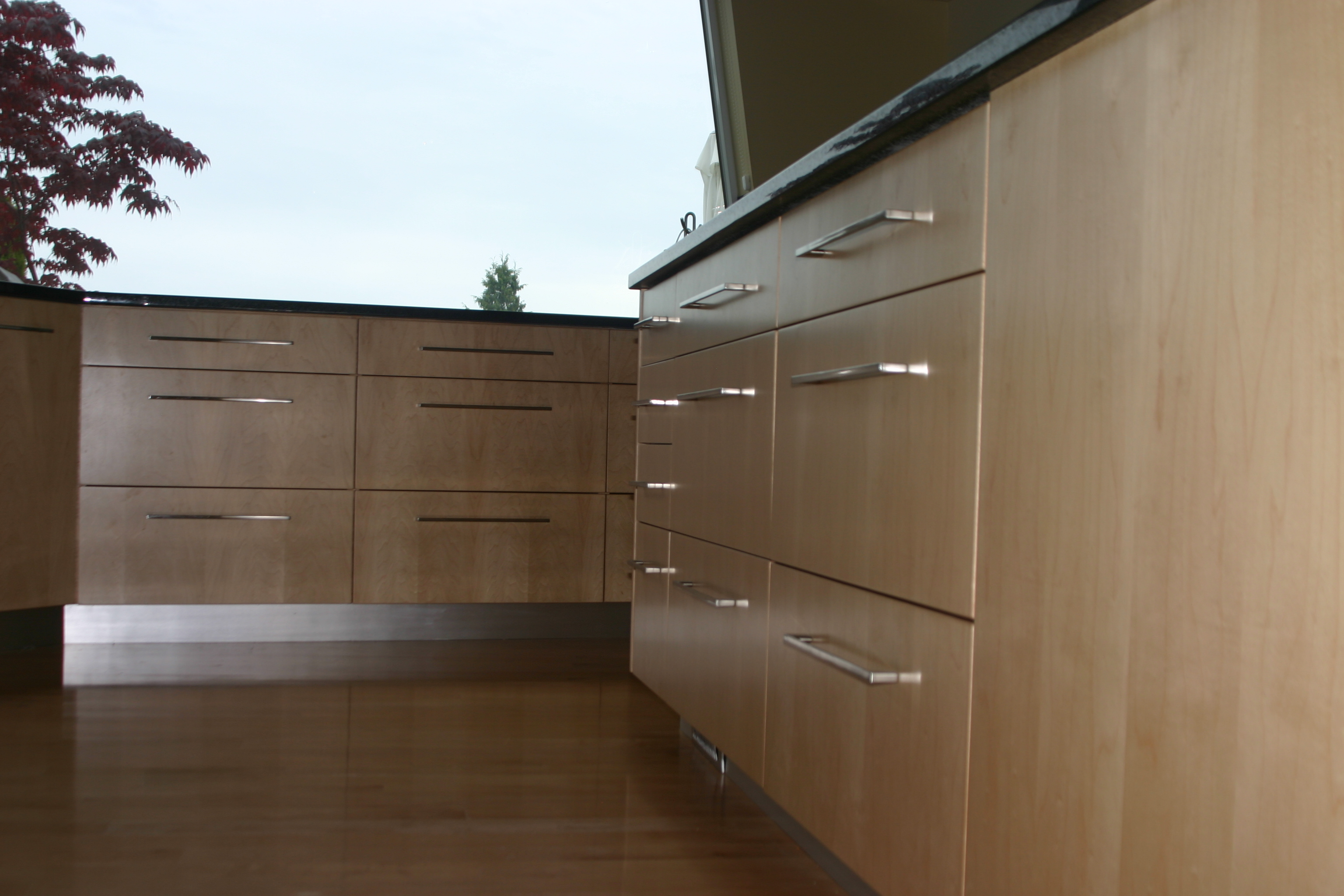 New full extension/soft close drawers retrofitted into island cabinetry